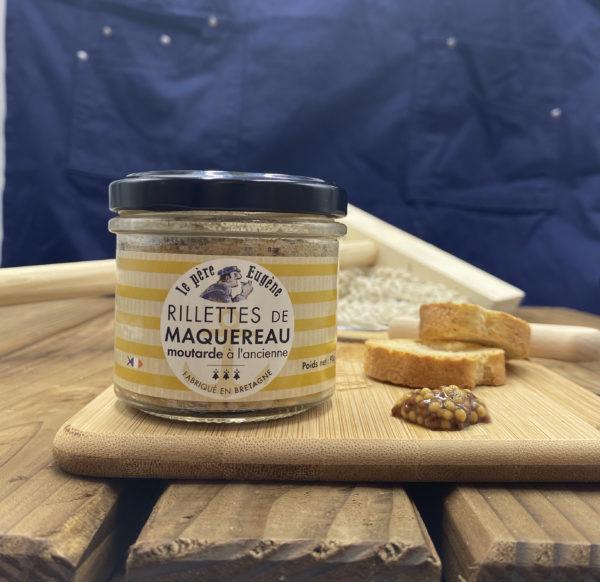Photo d'ambiance rillettes de maquereau moutarde à l'ancienne