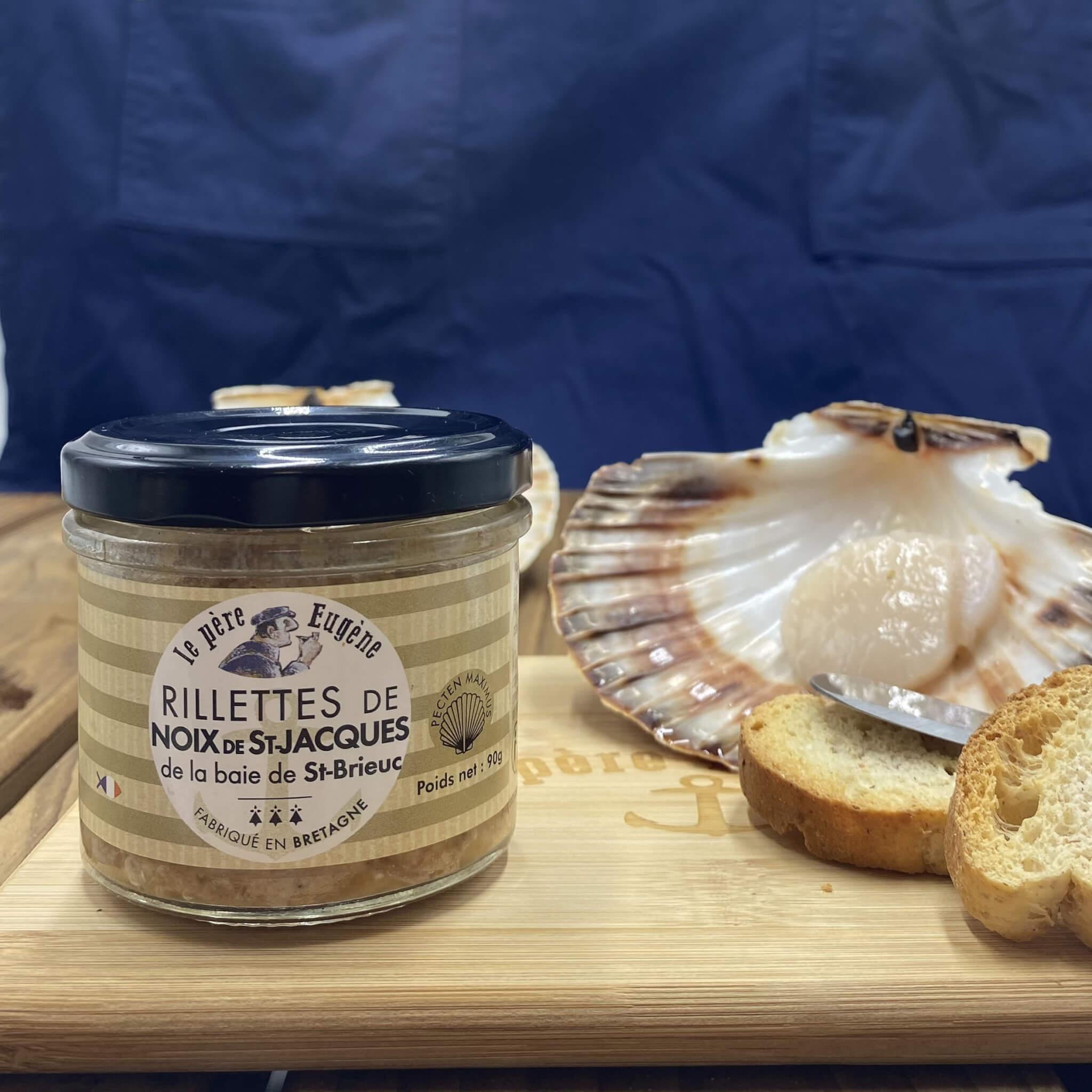 Photo d'ambiance rillettes noix de Saint-Jacques de la Baie de Saint-Brieuc